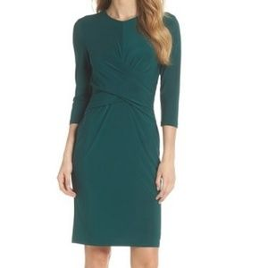 Eliza J Ruched Jersey Sheath Dress, US 6